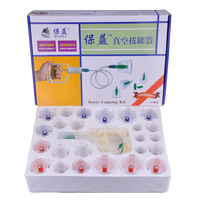 5pcs 24 Pcs Vacuum Cupping Cupping Acupuncture Massage Therapy Massage Magnetic Health Care Products Can Opener