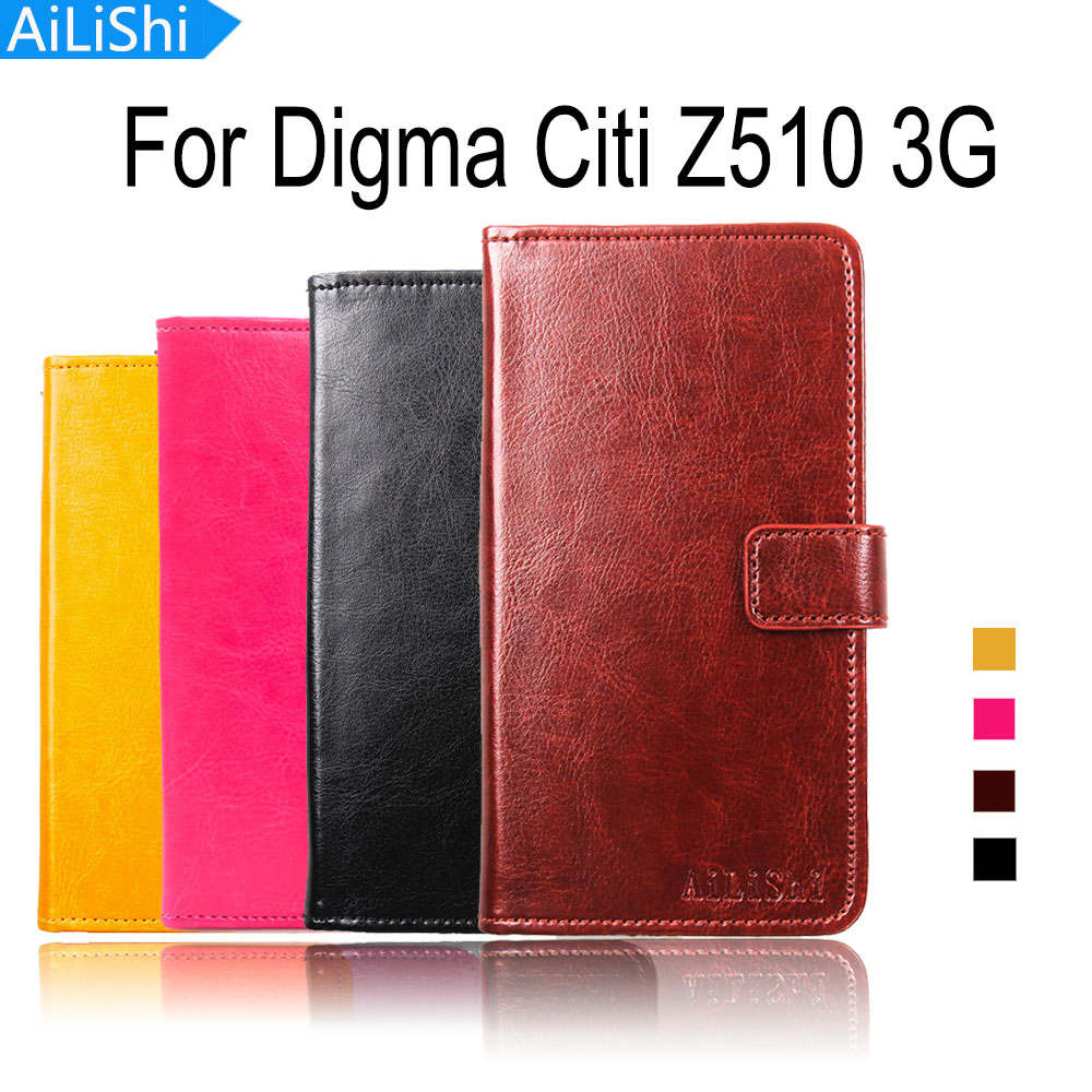 Flip Cases Rapture Ailishi Flip Leather Case For Digma Citi Z510 3g Case Luxury Cover Upscale Pu Phone Bag Wallet With Card Slot Last Style Cellphones & Telecommunications