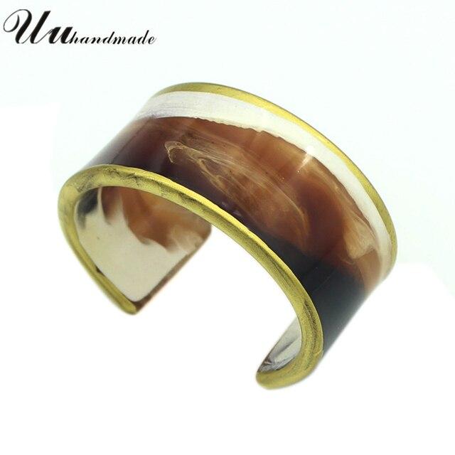 2017 New Real Pulseiras Bracelet Charm Jewelry Round Bangles Brand Bracelets For Women Acrylic Cuff Pulseira Feminina Bileklik