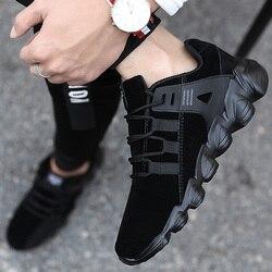 Mężczyźni luksusowa marka buty do biegania wygodne sportowe odkryte trampki męskie sportowe oddychające obuwie Zapatillas Walking Jogging w Buty do biegania od Sport i rozrywka na