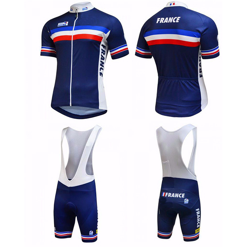 mtb uci NEW FRANCE Pro Team Cycling Jersey Summer Short Sleeve Set Cycling Clothing Ropa Ciclismo Fast Drying 3D Bike Bib Pants new 2017 bora argon 18 team ropa ciclismo short sleeve cycling jersey bike bicycle summer style mtb cycling clothing