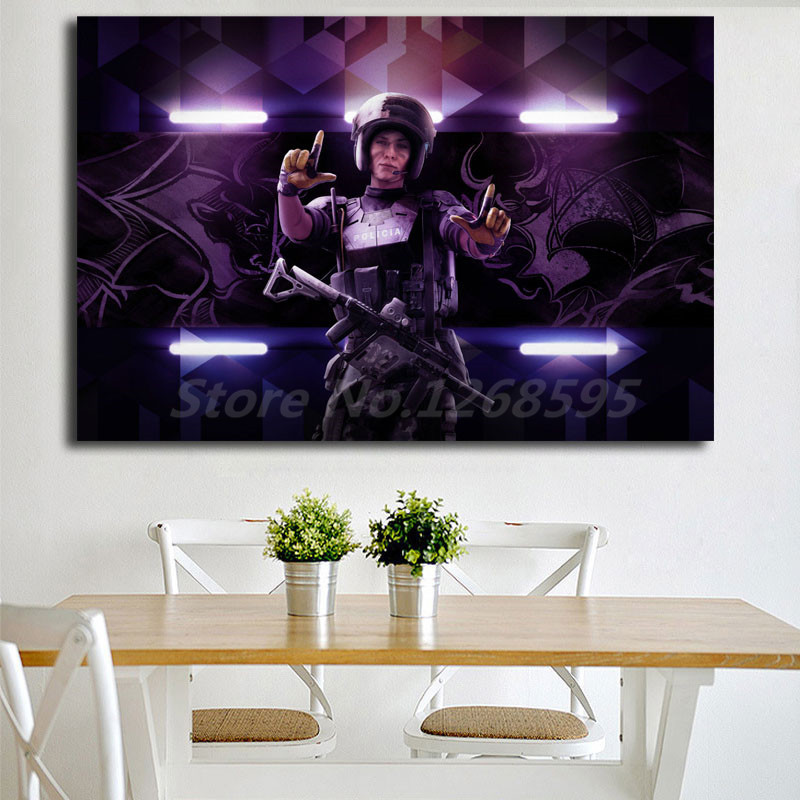US $5 64 6% OFF|Wallpaper Operator Mira Tom Clancy's Rainbow Six Siege HD  Art Canvas Poster Painting Wall Picture Print Home Bedroom Decoration-in