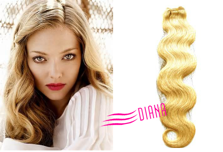 Stema European Hair Extensionsblonde Curly Russian Hair Weftbody
