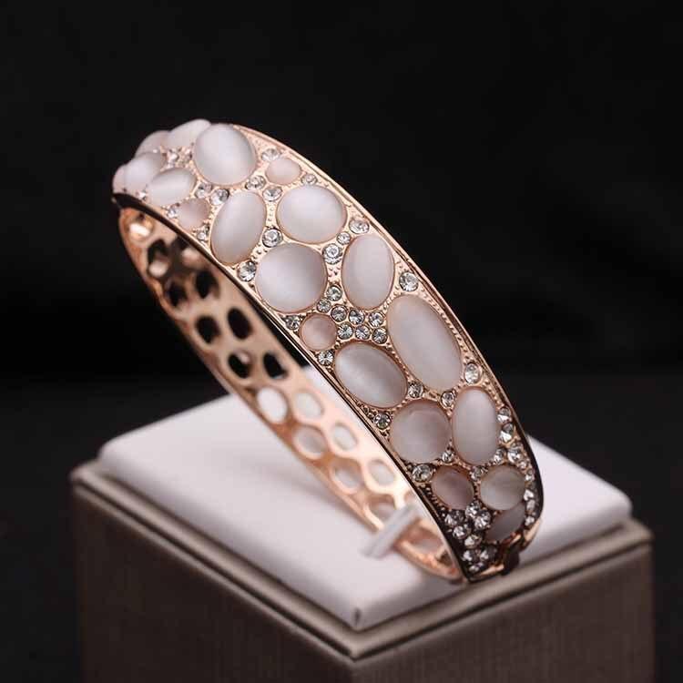 Bracelet Vintage en forme d'oeil de chat artificiel bracelet pour femme