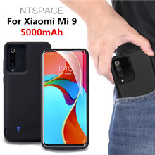 NTSPACE Extenal Battery Charger Cases For Xiaomi Mi 9 Powerbank Case 5000mAh Portable Power Bank Pack Charging Cover Case цена 2017