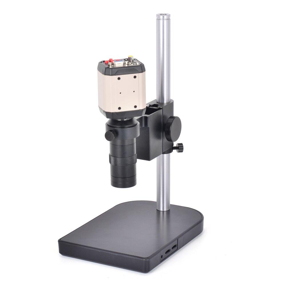 3in1 2.0MP HD Adjustable Industry Industrial Microscope Camera Set VGA CVBS AV TV USB Output + C-mount Lens + Table Stand Holder