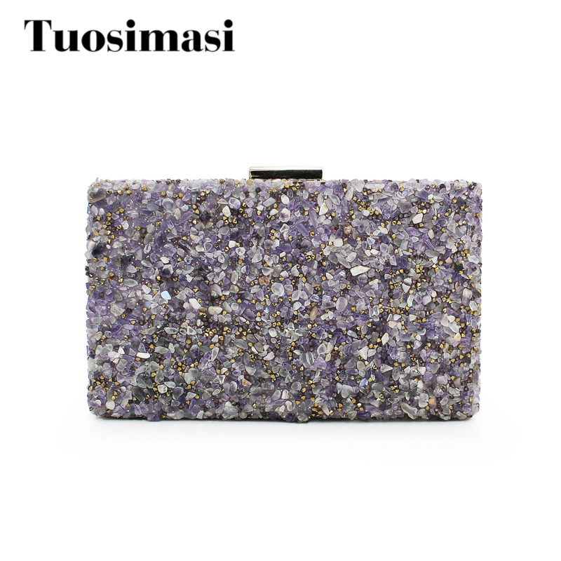 evening clutch chain shoulder bag women's colorful stone purse women handbag party clutch bag  (C498) luxury crystal clutch handbag women evening bag wedding party purses banquet