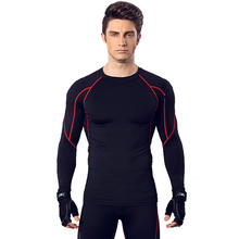 Mens Long Sleeve Shirt Slim Fit Fitness Compression Shirt Gyms Bodybuilding Workout Casual Brand Tee Tops Male Crossfit Clothes