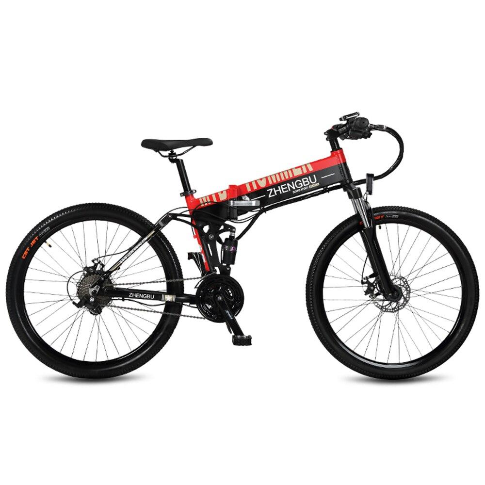 27 vitesses, 26 , Pliage Vélo Électrique, 48 v/10A, 240 w, cadre en Alliage d'aluminium et Jante, Pleine Suspension, E Vélo, Vtt.