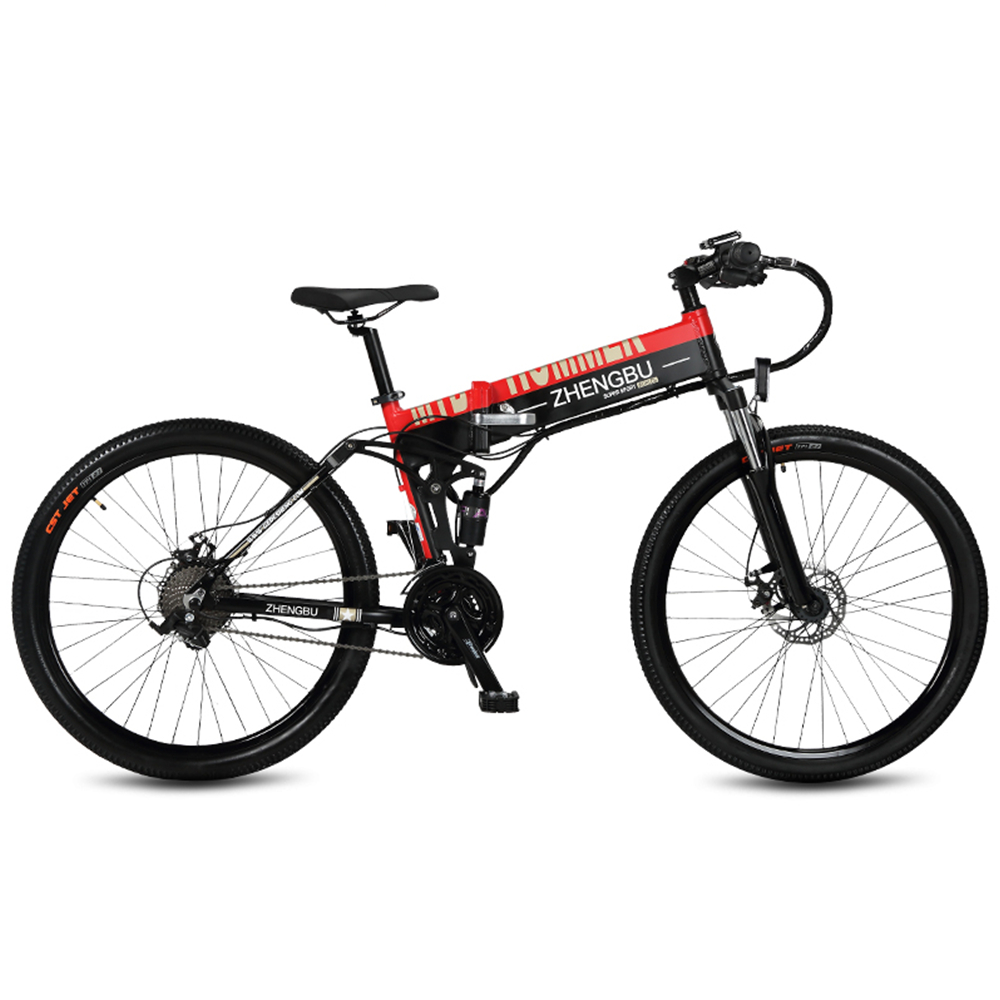 27 vitesses, 26 , vélo électrique pliant, 48 V/10A, 240 W, cadre en Alliage d'aluminium et Jante, Pleine Suspension, E Vélo, VTT.
