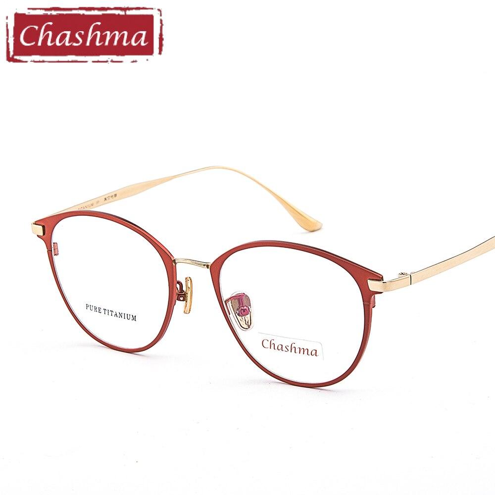 Chashma Female Pure Titanium Frame Lentes Opticos Gafas Top Quality Titanium Frames Super Light Eyeglasses Women