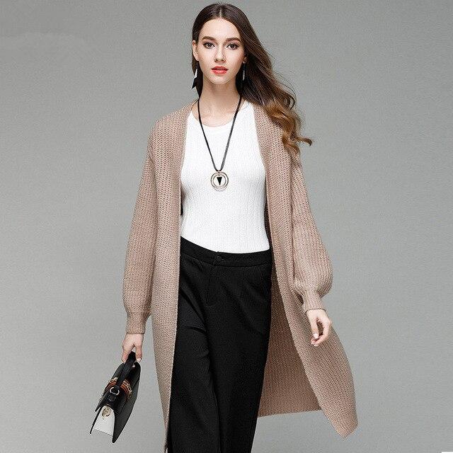 2018 New Women Long Sweater Cardigans Casual Oversized Poncho Long Sleeve Female Sweater Jacket Winter Outerwear casaco 2008
