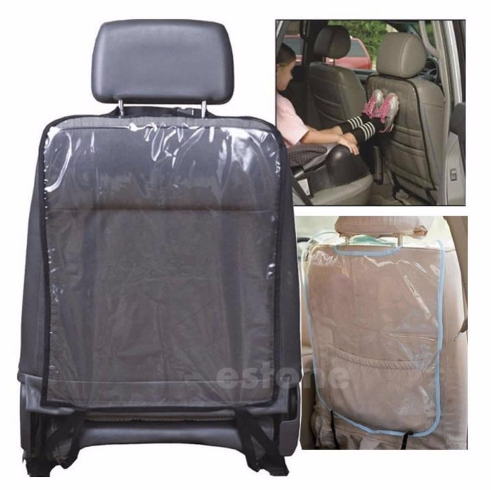 Cover Back-Protector Car-Seat-Mat Clean Fabric for Children Mud Black