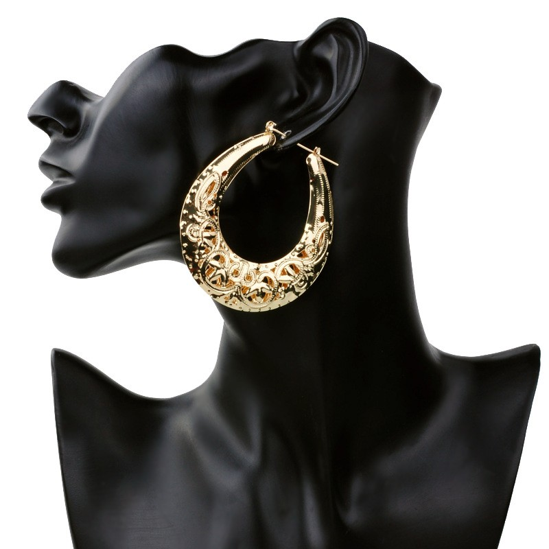 Vintage Women Earring Gold Fashion iron Jewelry Basketball Wives Round Hoop Earrings in Big Sale Promotion ER014