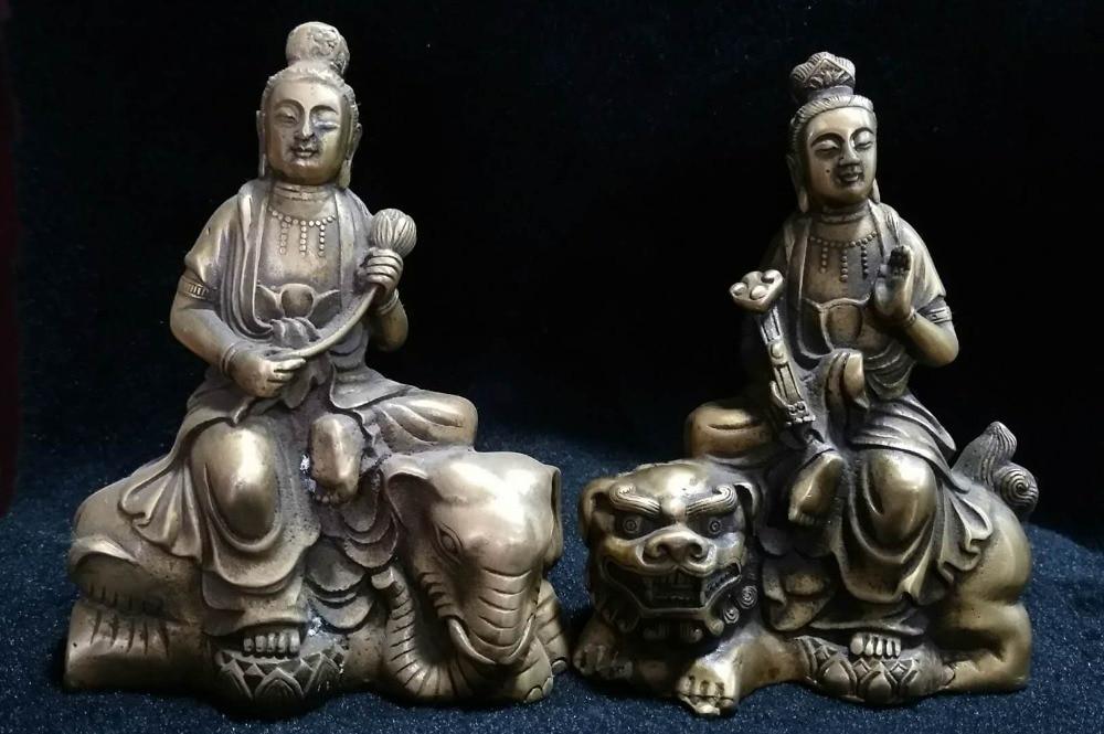 Le bronze Bodhisattva de Manjusri et le bronze antique arts et artisanat
