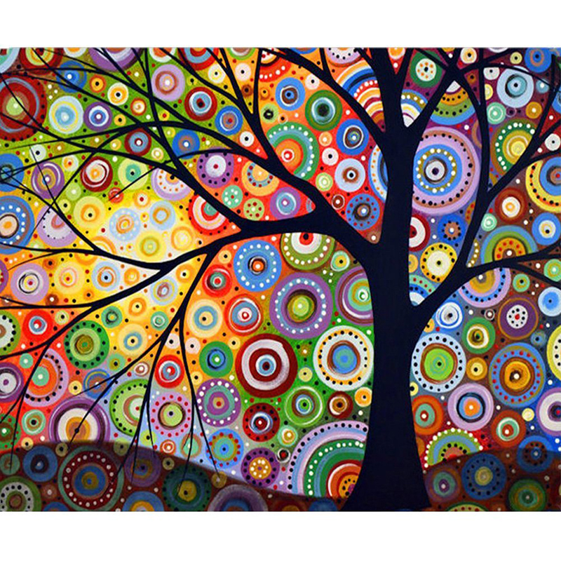 Full Square Drill 5D DIY Diamond Painting Creative Abstract Tree Embroidery Cross Stitch Wall Art Corridor Home Decoration Gift in Diamond Painting Cross Stitch from Home Garden
