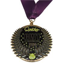 Personalized design 3D aluminum medal custom high quality engraving plating