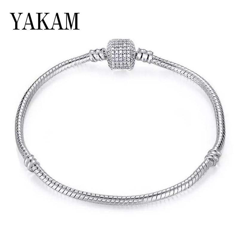 Wild Classic Fit Original Pandora Bracelets for Women Men Snake Chain Charms Bracelet Base Chain Fashion Jewelry Accessories DIY