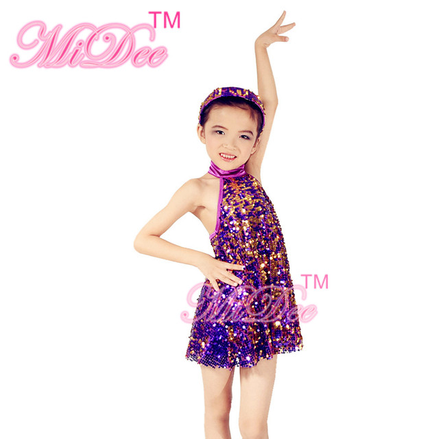 eee47fb61acaa MiDee Full Sequins Dance Dresses Jazz Costume Solo Dance Competition Costumes  Dress Clothing Stage Costumes for Sales