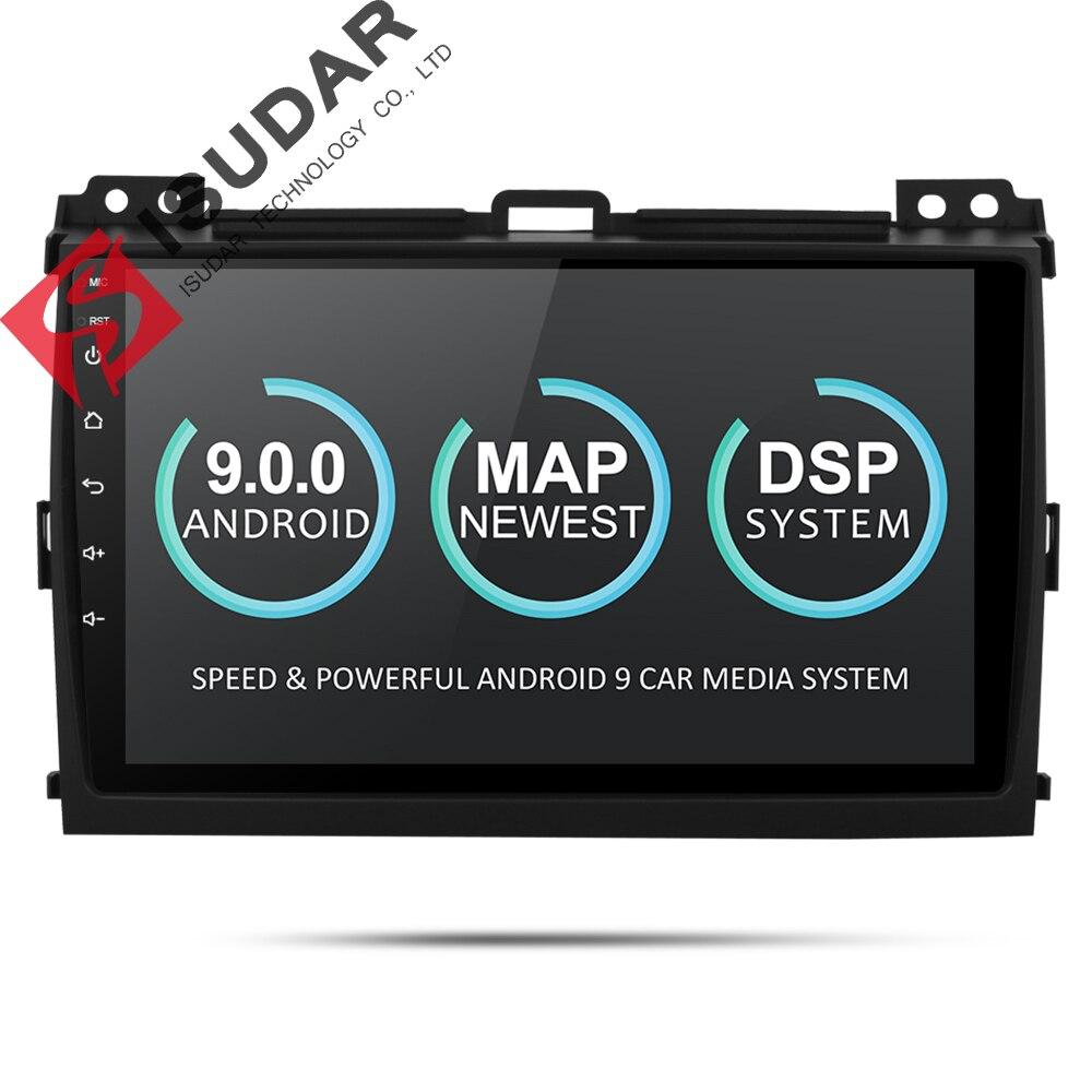 Isudar 9 2 Din Player Multimídia Carro Android Para Toyota/Prado 120 2004-2009 Auto Rádio de Navegação GPS FM Câmera DVR USB DSP OBD