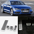 Brand New 4pcs Aluminium Non Slip Foot Rest Fuel Gas Brake Pedal Cover For Audi A7 MT 2009-2016