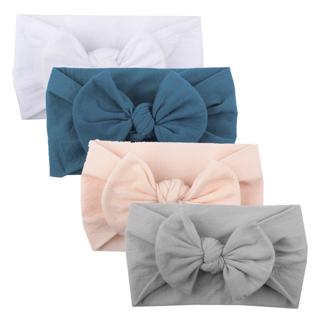 4 pçs do bebê da criança crianças meninas cor misturada nó turbante bandana arco elástico cabeça envoltórios headwear para menina acessórios de cabelo jly15