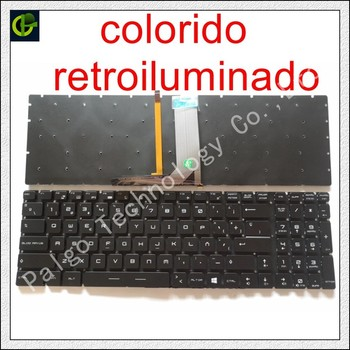 Spanish RGB backlit colorful Keyboard For MSI MS-16K2 MS-16L2 MS-16JB MS-179B MS-1796 MS-1799 MS-16J9 MS-1792 MS-16J1 Latin SP фото