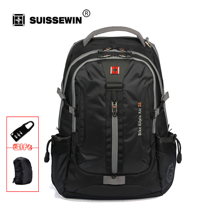 Swisswin Swissgear design Daily Backpack with Laptop Sleeve and headphone jack Large Capacity Bag For Travel SW6005V ewelink eu uk standard 1 gang 1 way light touch switch crystal glass panel touch switch wall light switch for smart home