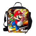 2015 Fashion Cartoon Character Bags Super Mario Lunch Bag For Kids Thermal Insulated Lunch Bag For Children School Girls Boys