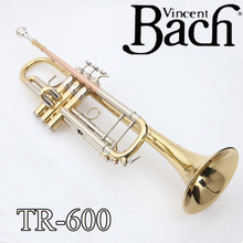 Promotion Bach Trumpet TR-600 Brass Small Trumpete Brass Instruments Cupronickel in Section Mouthpiece Gloves Musical Instrument