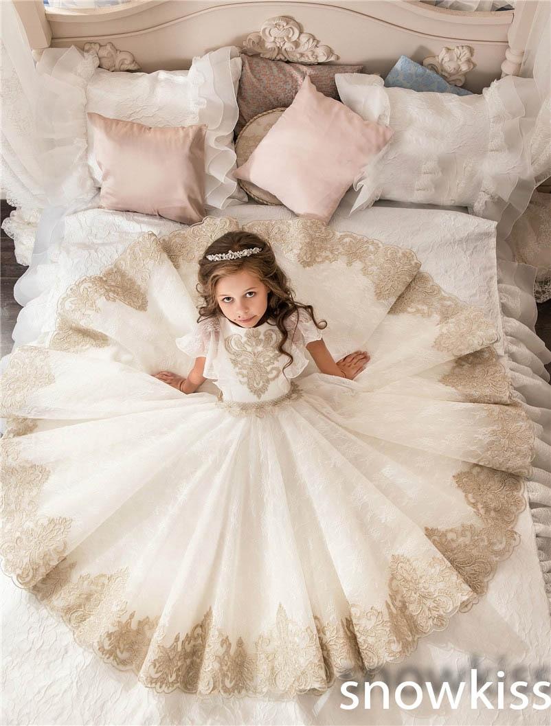 Buy 2017 empire vintage flower girl for Dress for girl for wedding