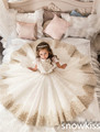 2017 empire vintage vestidos de niña para la boda con encaje de tul balón vestido de bohemia para el niño desfile vestidos de baile