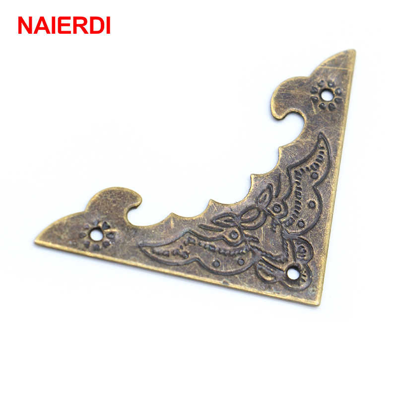 10PCS NAIERDI Decoration Corner Bracket Antique Jewelry Wooden Box Foot Leg Corner Protector Crafts Furniture Fittings Hardware