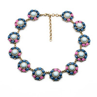 Women's fashion brand vintage gorgeous exaggerated gems pendant necklace wholesale N0659