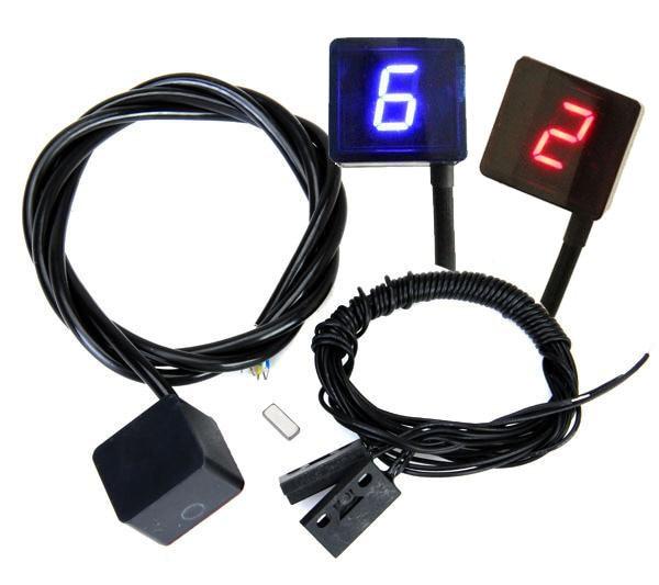 Waterproof Universal WaterproofDigital Gear Indicator Motorcycle LED Display Shift Lever Sensor Blue Light for fits