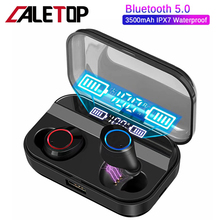 CALETOP TWS X11 Bluetooth 5.0 Earphone Hifi Stereo Sport Headphone With Power Display Bass Headset Touch Control IPX7 Waterproof