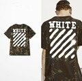 2017 de Desconto dos homens Brancos camisa de Grandes Dimensões t Homens Moda Streetwear Hip Hop Camuflagem Camiseta Verão Camiseta Justin Bieber roupas
