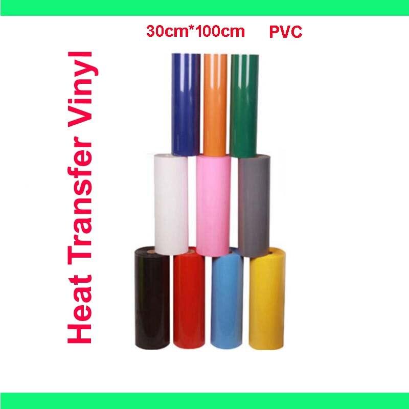30cm * 100cm PVC transfert de chaleur vinyle film T-shirt fer sur HTV impression nombre de cultures modèles pour vêtements de sport décoration de la maison