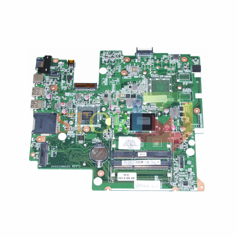 NOKOTION for HP Sleekbook 14-B laptop motherboard 714618-501 715866-501 DA0U33MB6D0 i3-2367m HM77 DDR3 laptop motherboard for acer asipre m3 581t nbry811004 jm50 i3 2367m hm77 gma hd 3000 ddr3