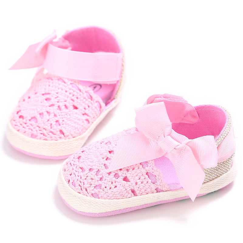 Shoes For Girls Mary Jane Flats Shoes With Bow Little Kids Newborn Infant Toddler Summer Crib Shoes Bebes Casual House Footgear