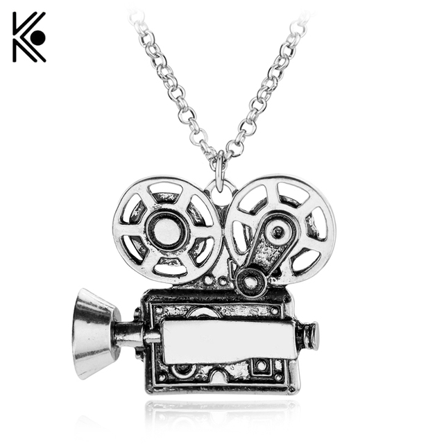 Projektor Necklaces & Pendants Vintage Charm Necklace High Quality Camera Film filmmaker Gift for men women Party Jewelry
