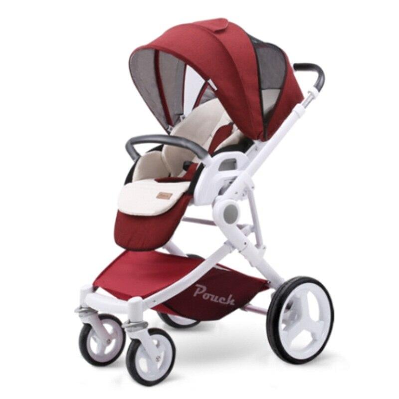Pochette enfants Poussette P37High paysage bébé Poussette Kinderwagen Poussette bébé trône infantile Poussette landau pour le nouveau-né