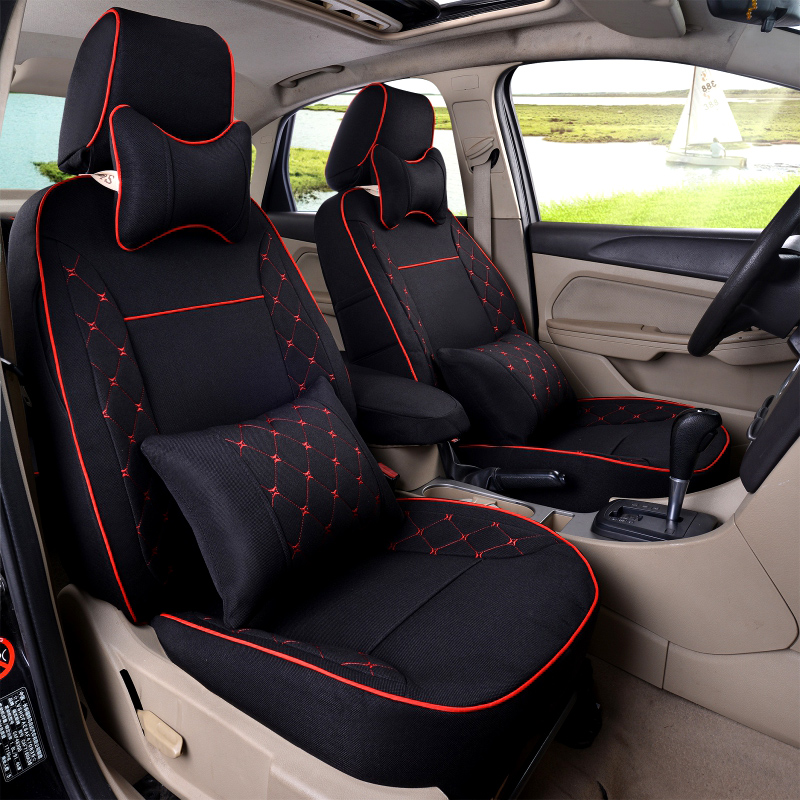 XWSN custom car seat covers for toyota All models corolla chr auris rav4 mark 2 wish vitz camry 40 estima prius fortuner premio