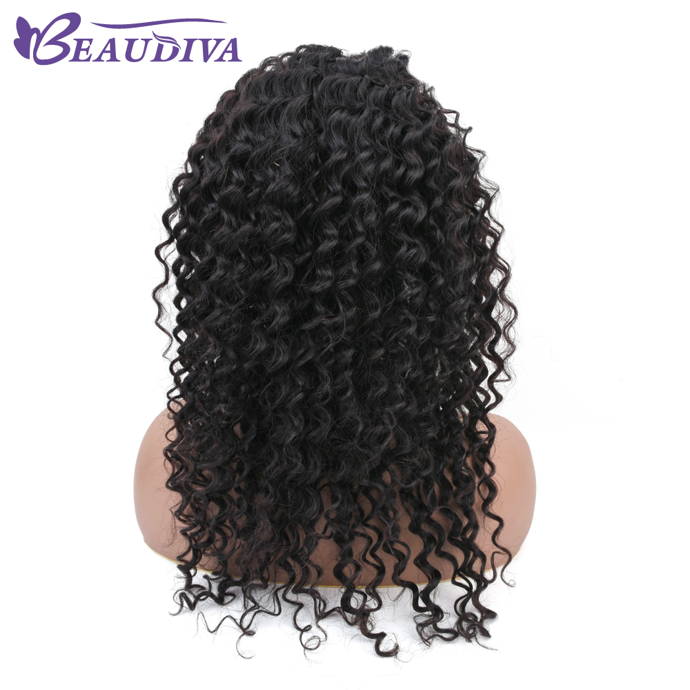 Beaudiva 13x4 Deep Wave Lace Front Human Hair Wigs 12 20 Non Remy Hair 130 Density