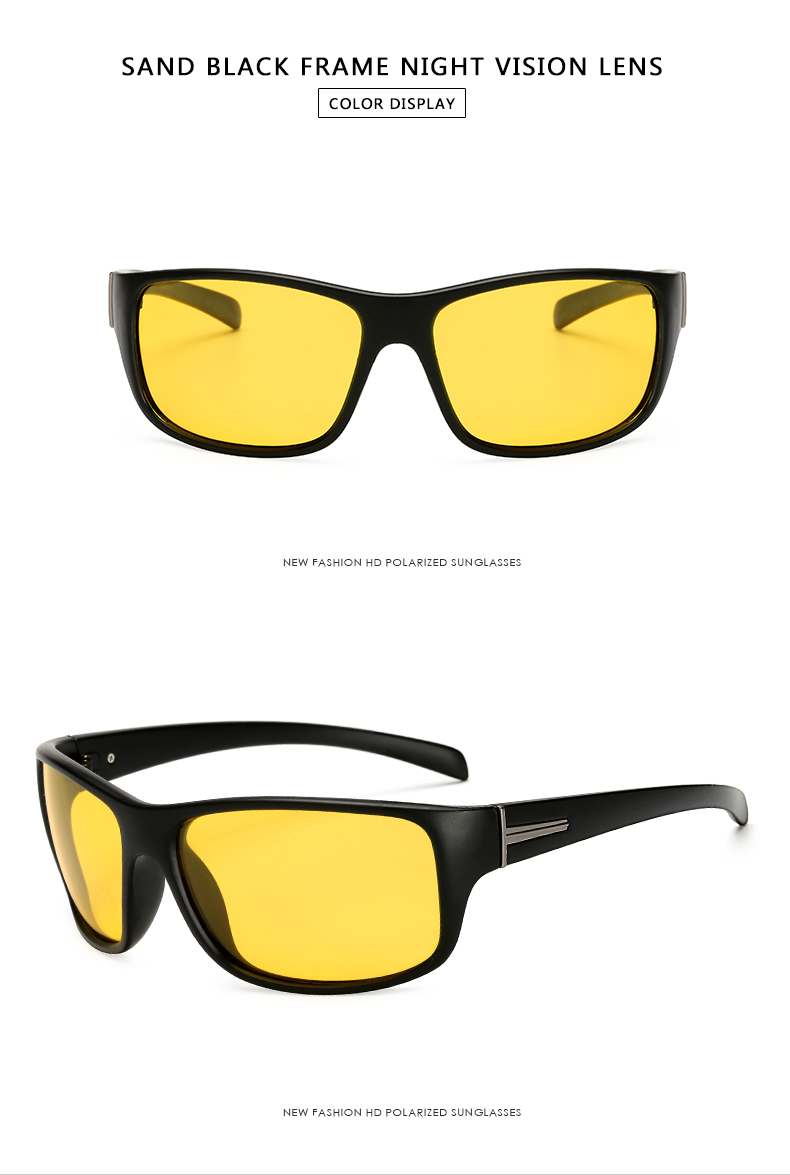 17da2795245 High Quality Men Polarized Sunglasses Yellow Night Vision Male Driving  Goggles Vintage Safety Sun Glasses 2018 New LongKeeper