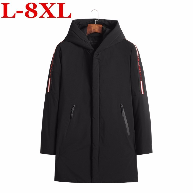 plus size 8XL 7XL 6XL 5XL Winter new   parkas   for jacket Hooded brand casual men warm Cotton-padded clothes Coat Free shipping
