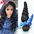 Mink Brazillian Loose Weave Virgin Hair Cheap Human Hair Extensions 3Bundles 8A Unprocessed Brazilian Virgin Hair Loose Wave 1B#