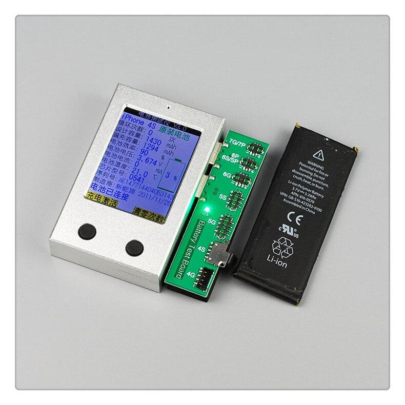 Fast arrival Apple iPhone BatteryTester for iPhone 4 4s 5 5s 5c 6 6P 6s 6sP 7 7p a key clear cycle fast p