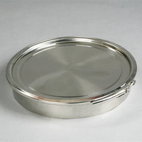 Sanitary 350mm Diameter Clamp Round Brew Kettle Manhole Cover Stainless Steel 1 bar Pressure
