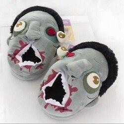 هدية الكريسماس هالوين شحن مجاني القطيفة غيبوبة النعال/الغراب غيبوبة نعال تدفئة المنزل هالوين أحذية مضحك هدية